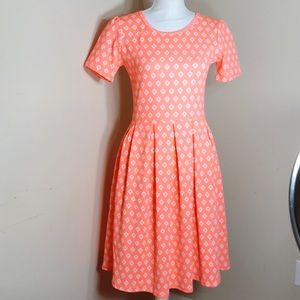 LuLaRoe  Amelia Coral Dress Size Small   A19
